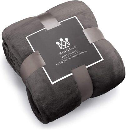 Kingole Flannel Fleece Microfiber flannel blankets